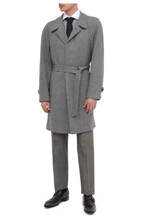 Мужские кожаные монки SANTONI темно-серого цвета, арт. MCCR17346MC1HNGWG60 | Фото 2 (Материал внутренний: Натуральная кожа; Стили: Классический)