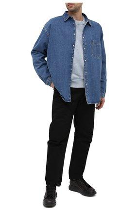 Мужские кожаные кеды ALEXANDER MCQUEEN черного цвета, арт. 635836/WHXHX | Фото 2