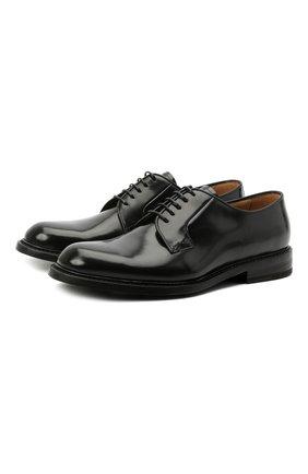 Мужские кожаные дерби BARRETT черного цвета, арт. 192U050.5/SPAZZ0LAT0 | Фото 1 (Материал внутренний: Натуральная кожа; Стили: Классический)