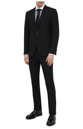 Мужские кожаные дерби BARRETT черного цвета, арт. 192U050.5/SPAZZ0LAT0 | Фото 2 (Материал внутренний: Натуральная кожа; Стили: Классический)