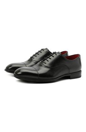 Мужские кожаные оксфорды BARRETT черного цвета, арт. 201U031.1/VITELL0 K | Фото 1