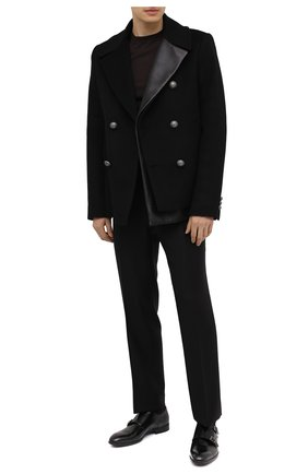Мужские кожаные монки BARRETT черного цвета, арт. 201U032.1/VITELL0 K | Фото 2