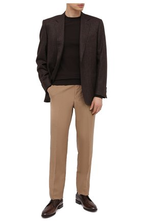 Мужские кожаные дерби BARRETT темно-коричневого цвета, арт. 201U054.4/BETIS CREAM   Фото 2