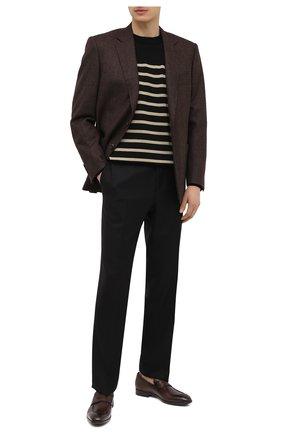 Мужские кожаные пенни-лоферы BARRETT коричневого цвета, арт. 201U064.13/C0RSAR0 | Фото 2 (Материал внутренний: Натуральная кожа; Мужское Кросс-КТ: Лоферы-обувь; Стили: Классический)