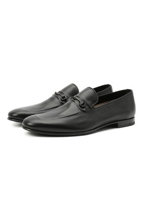 Мужские кожаные лоферы BARRETT черного цвета, арт. 211U003.4/C0RSAR0 | Фото 1