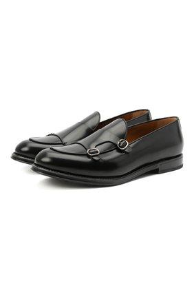 Мужские кожаные лоферы BARRETT черного цвета, арт. 211U006.4/SPAZZ0LAT0 | Фото 1