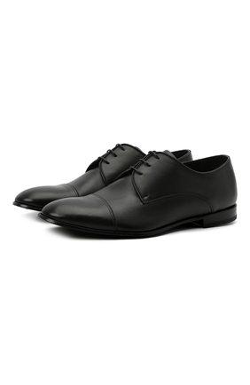 Мужские кожаные дерби BARRETT черного цвета, арт. 211U019.1/ASK0T | Фото 1