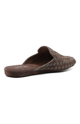 Мужского домашние туфли HOMERS AT HOME коричневого цвета, арт. 16097/ANTE   Фото 4 (Материал внутренний: Натуральная кожа; Мужское Кросс-КТ: тапочки-обувь)