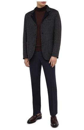 Мужские кожаные лоферы firenze ZEGNA COUTURE бордового цвета, арт. A4505X-LHBEP | Фото 2