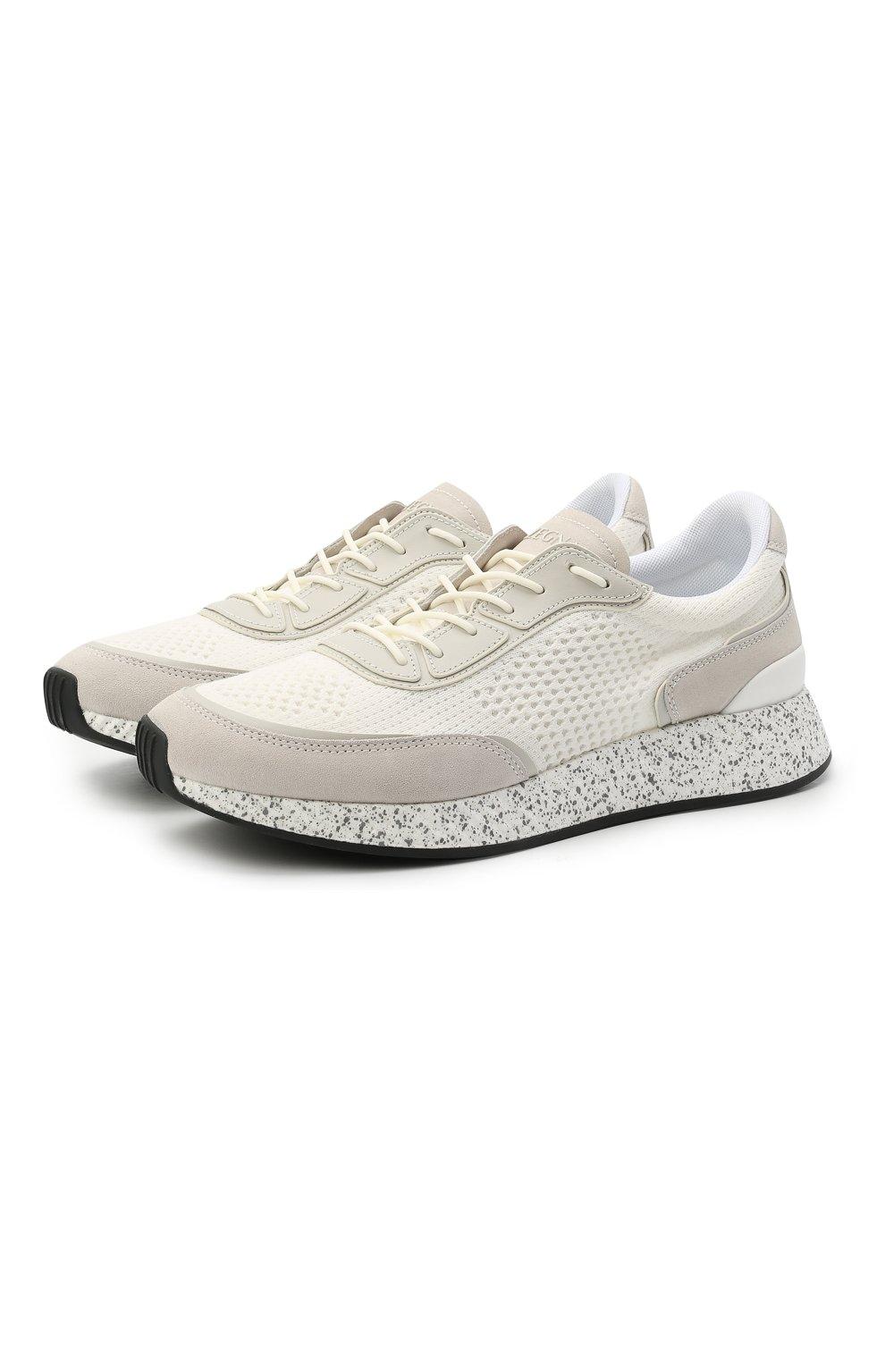 Мужские комбинированные кроссовки piuma Z ZEGNA белого цвета, арт. A4921X-LHCB0   Фото 1 (Материал внешний: Текстиль; Материал внутренний: Текстиль; Подошва: Массивная; Стили: Спорт)
