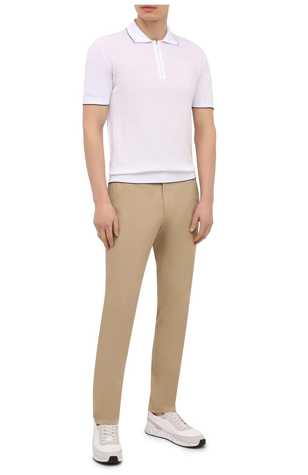 Мужские комбинированные кроссовки piuma Z ZEGNA белого цвета, арт. A4921X-LHCB0   Фото 2 (Материал внешний: Текстиль; Материал внутренний: Текстиль; Подошва: Массивная; Стили: Спорт)