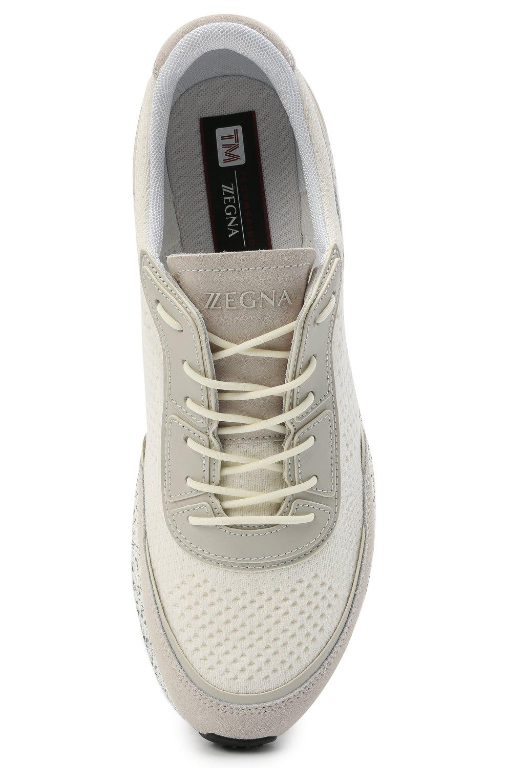 Мужские комбинированные кроссовки piuma Z ZEGNA белого цвета, арт. A4921X-LHCB0   Фото 5 (Материал внешний: Текстиль; Материал внутренний: Текстиль; Подошва: Массивная; Стили: Спорт)