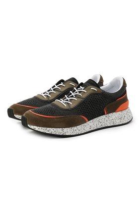 Мужские комбинированные кроссовки piuma Z ZEGNA хаки цвета, арт. A4921X-LHCB0 | Фото 1 (Подошва: Массивная; Материал внешний: Текстиль; Материал внутренний: Текстиль; Стили: Спорт)