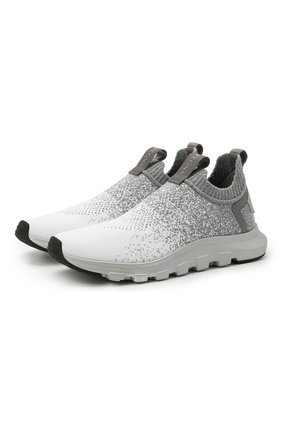 Мужские текстильные кроссовки techmerino sock 2.0 Z ZEGNA светло-серого цвета, арт. A4923X-LHLLA | Фото 1 (Материал внутренний: Текстиль; Материал внешний: Текстиль; Подошва: Массивная; Стили: Спорт)