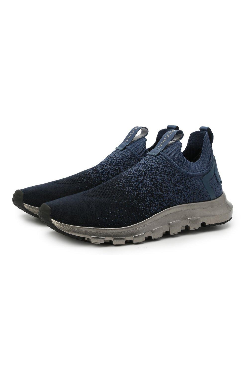 Мужские текстильные кроссовки techmerino sock 2.0 Z ZEGNA темно-синего цвета, арт. A4923X-LHLLA   Фото 1 (Материал внешний: Текстиль; Материал внутренний: Текстиль; Подошва: Массивная; Стили: Спорт)