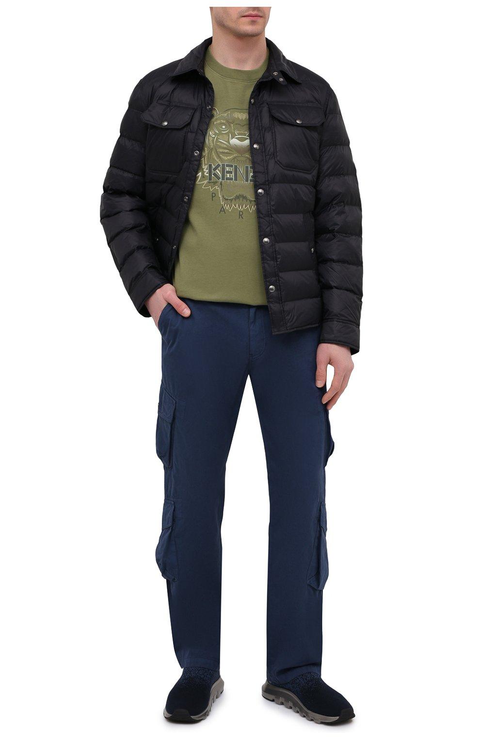 Мужские текстильные кроссовки techmerino sock 2.0 Z ZEGNA темно-синего цвета, арт. A4923X-LHLLA   Фото 2 (Материал внешний: Текстиль; Материал внутренний: Текстиль; Подошва: Массивная; Стили: Спорт)