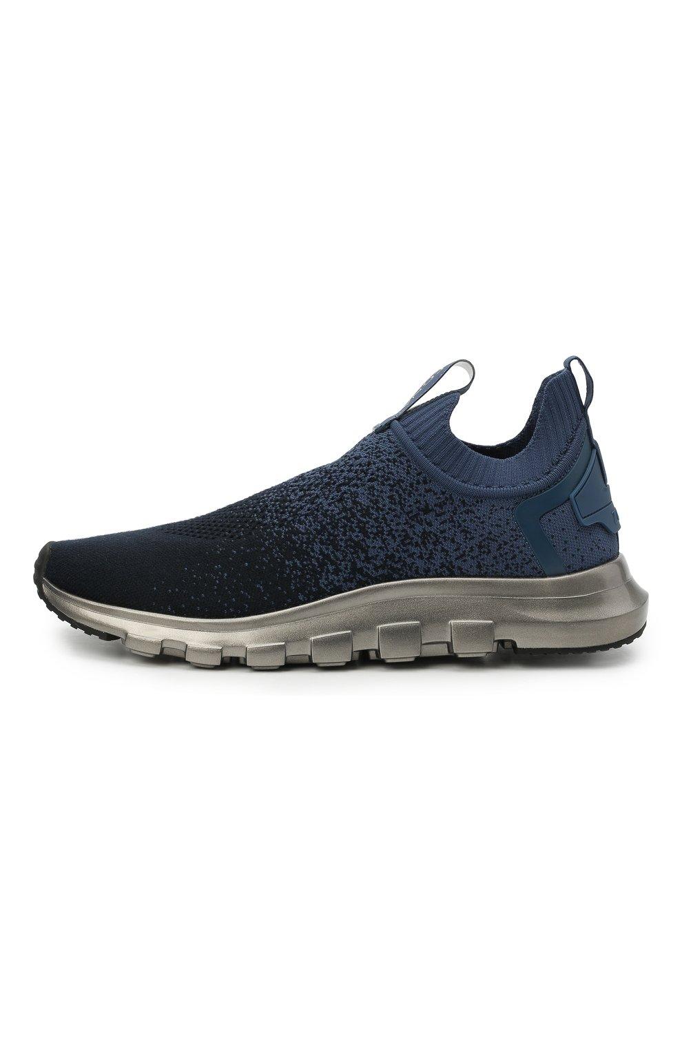 Мужские текстильные кроссовки techmerino sock 2.0 Z ZEGNA темно-синего цвета, арт. A4923X-LHLLA   Фото 3 (Материал внешний: Текстиль; Материал внутренний: Текстиль; Подошва: Массивная; Стили: Спорт)