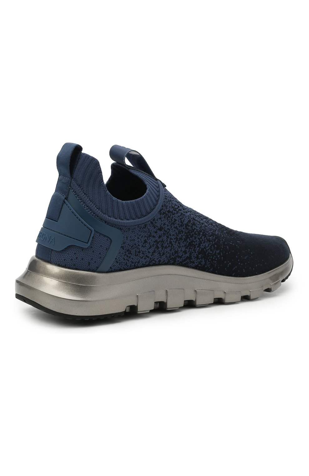 Мужские текстильные кроссовки techmerino sock 2.0 Z ZEGNA темно-синего цвета, арт. A4923X-LHLLA   Фото 4 (Материал внешний: Текстиль; Материал внутренний: Текстиль; Подошва: Массивная; Стили: Спорт)