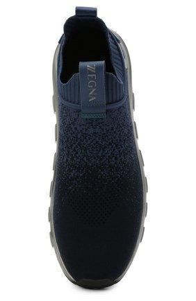 Мужские текстильные кроссовки techmerino sock 2.0 Z ZEGNA темно-синего цвета, арт. A4923X-LHLLA   Фото 5 (Материал внешний: Текстиль; Материал внутренний: Текстиль; Подошва: Массивная; Стили: Спорт)