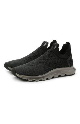Мужские текстильные кроссовки techmerino sock 2.0 Z ZEGNA черного цвета, арт. A4923X-LHLLA | Фото 1 (Подошва: Массивная; Материал внешний: Текстиль; Материал внутренний: Текстиль; Стили: Спорт)