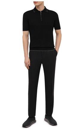 Мужские текстильные кроссовки techmerino sock 2.0 Z ZEGNA черного цвета, арт. A4923X-LHLLA | Фото 2 (Подошва: Массивная; Материал внешний: Текстиль; Материал внутренний: Текстиль; Стили: Спорт)