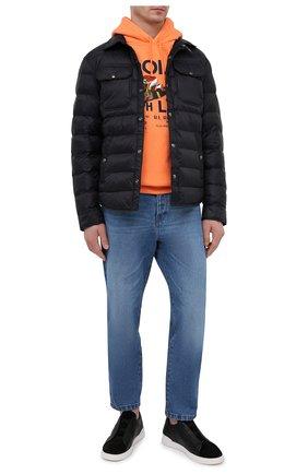 Мужские кожаные кеды triple stitch ZEGNA COUTURE черного цвета, арт. A4667X-LHRHS | Фото 2