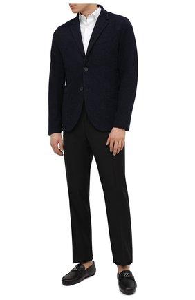 Мужская хлопковая рубашка CANALI белого цвета, арт. NY18/GR01598 | Фото 2 (Рукава: Короткие; Длина (для топов): Стандартные; Материал внешний: Хлопок; Рубашки М: Slim Fit; Случай: Повседневный; Воротник: Кент; Принт: Однотонные; Стили: Кэжуэл)
