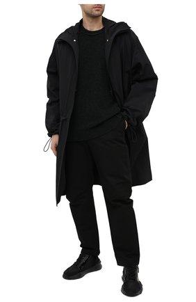 Мужские комбинированные кроссовки FENDI черного цвета, арт. 7E1392 EKV | Фото 2