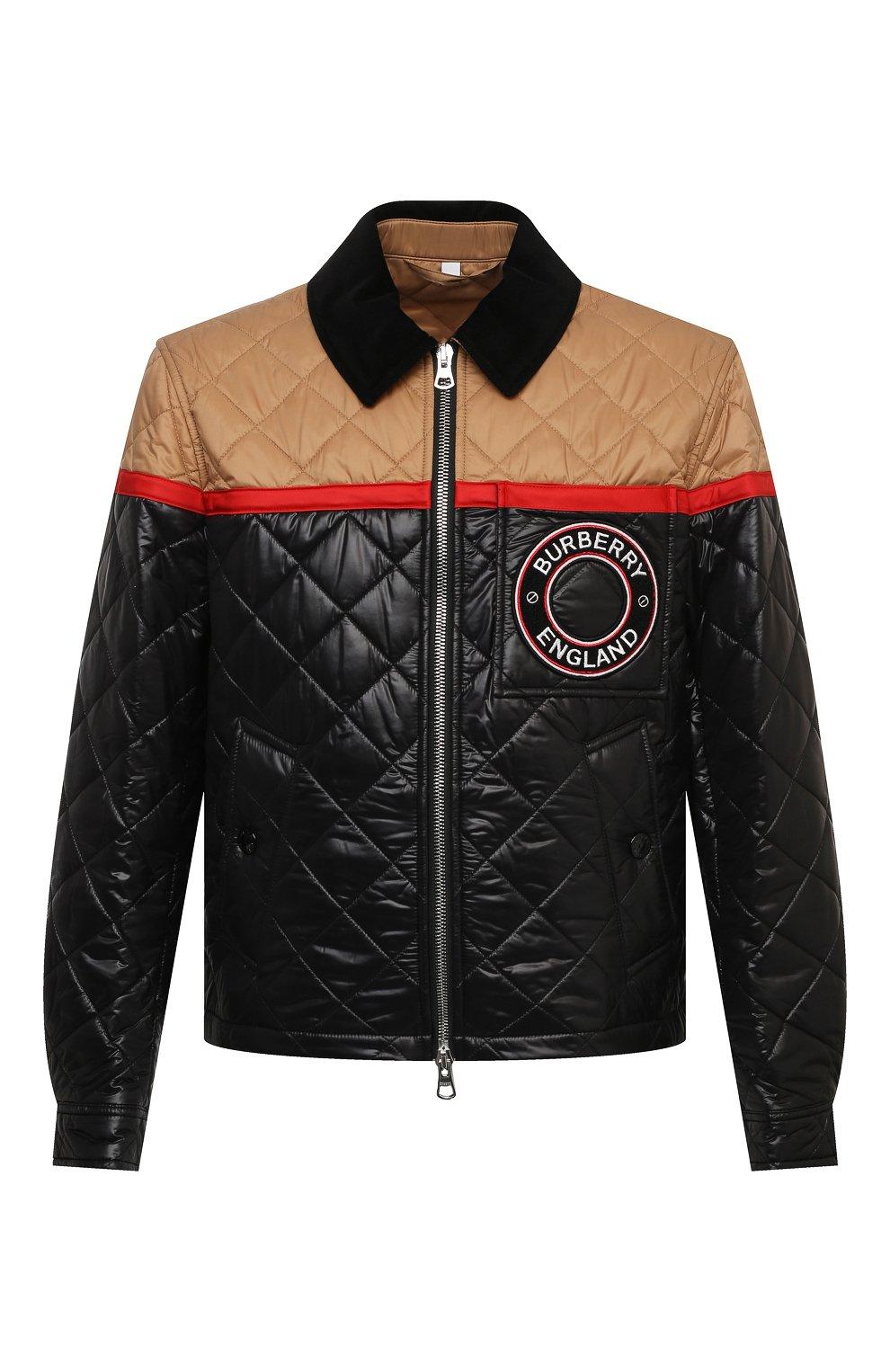 Мужская куртка BURBERRY черного цвета, арт. 8036819 | Фото 1