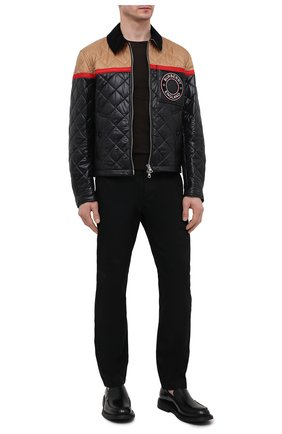 Мужская куртка BURBERRY черного цвета, арт. 8036819 | Фото 2