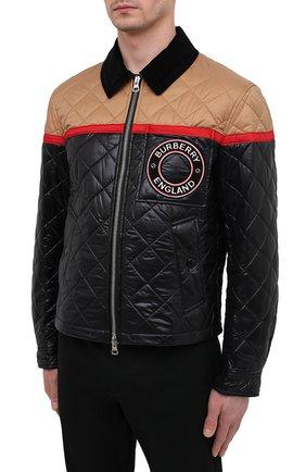 Мужская куртка BURBERRY черного цвета, арт. 8036819 | Фото 3