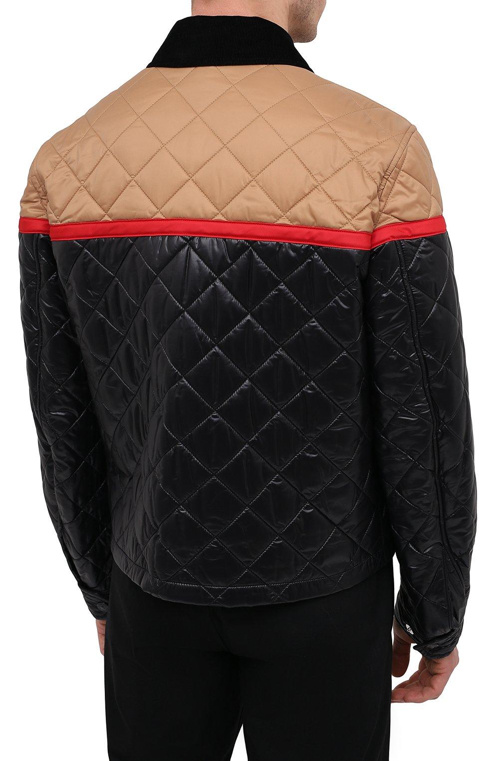 Мужская куртка BURBERRY черного цвета, арт. 8036819 | Фото 4