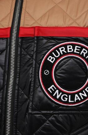 Мужская куртка BURBERRY черного цвета, арт. 8036819 | Фото 5