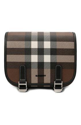 Мужская сумка BURBERRY коричневого цвета, арт. 8036552 | Фото 1 (Ремень/цепочка: На ремешке; Материал: Текстиль, Экокожа)