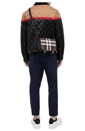 Мужская сумка BURBERRY коричневого цвета, арт. 8036552 | Фото 2 (Ремень/цепочка: На ремешке; Материал: Текстиль, Экокожа)