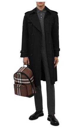 Мужской рюкзак BURBERRY коричневого цвета, арт. 8036549 | Фото 2 (Материал: Экокожа, Текстиль)