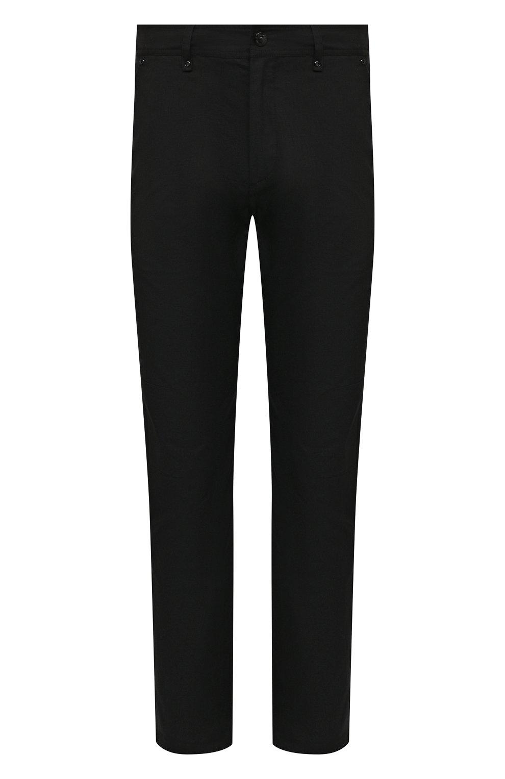 Мужские хлопковые брюки BURBERRY черного цвета, арт. 8033084 | Фото 1