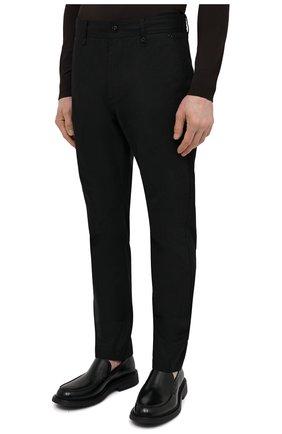 Мужские хлопковые брюки BURBERRY черного цвета, арт. 8033084 | Фото 3