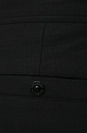 Мужские хлопковые брюки BURBERRY черного цвета, арт. 8033084 | Фото 5