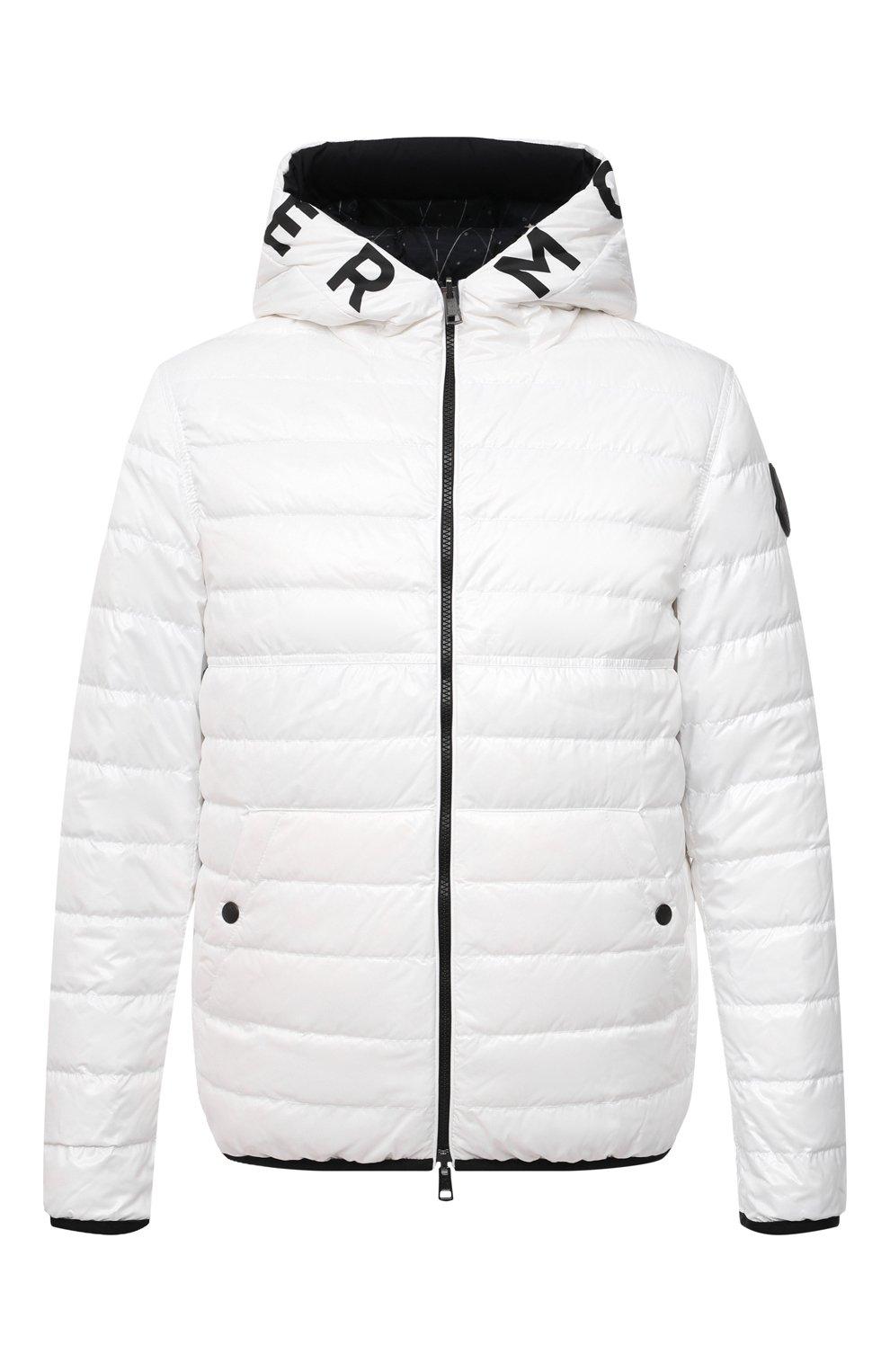 Мужская двусторонняя пуховая куртка krim MONCLER белого цвета, арт. G1-091-1A52N-70-68950   Фото 1 (Кросс-КТ: Куртка; Мужское Кросс-КТ: пуховик-короткий; Рукава: Длинные; Материал внешний: Синтетический материал; Принт: С принтом; Материал подклада: Синтетический материал; Длина (верхняя одежда): Короткие; Материал утеплителя: Пух и перо; Стили: Кэжуэл)