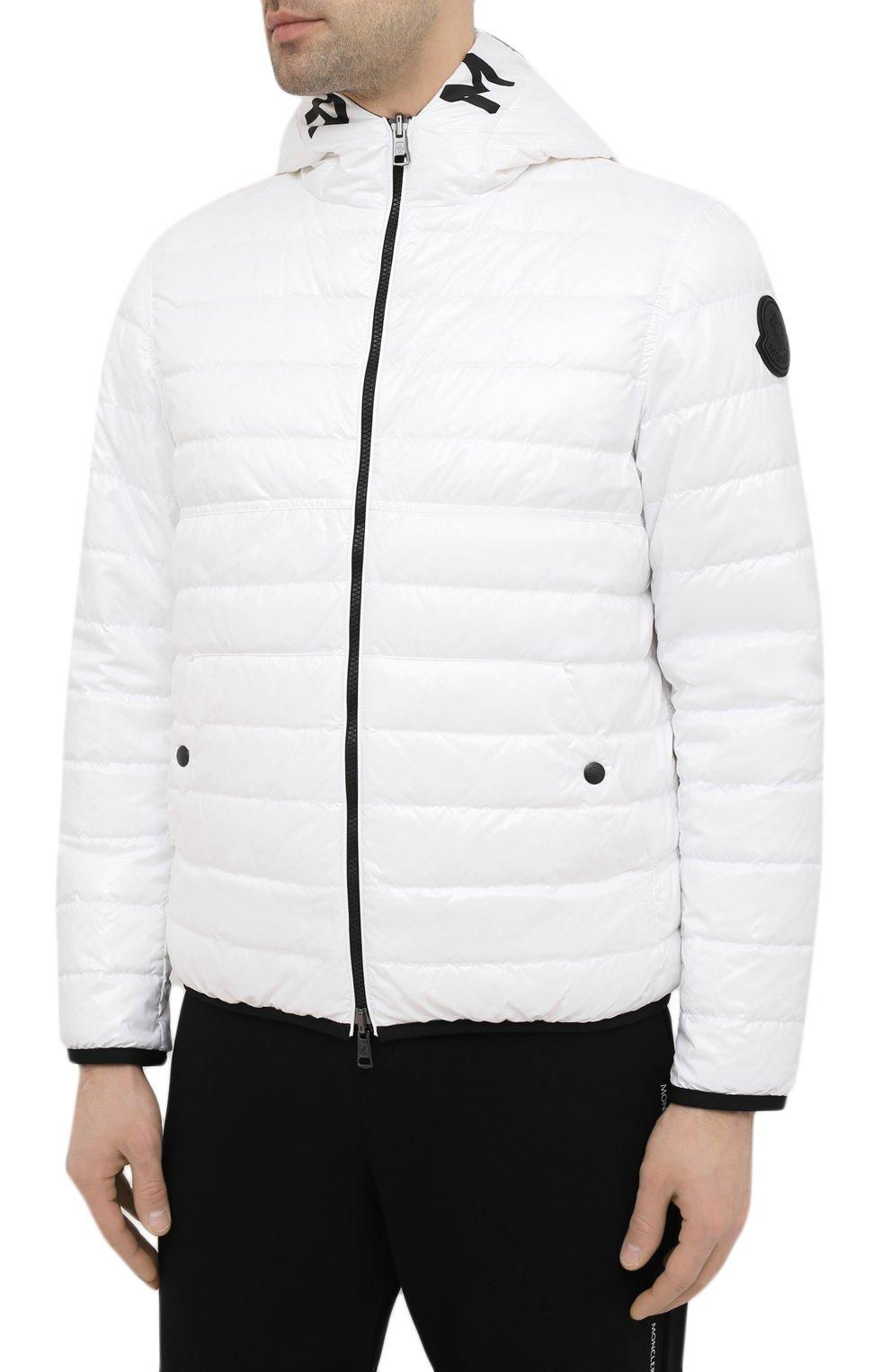 Мужская двусторонняя пуховая куртка krim MONCLER белого цвета, арт. G1-091-1A52N-70-68950   Фото 3 (Кросс-КТ: Куртка; Мужское Кросс-КТ: пуховик-короткий; Рукава: Длинные; Материал внешний: Синтетический материал; Принт: С принтом; Материал подклада: Синтетический материал; Длина (верхняя одежда): Короткие; Материал утеплителя: Пух и перо; Стили: Кэжуэл)