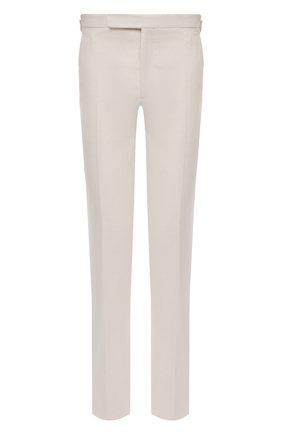 Мужские брюки изо льна и шелка RALPH LAUREN белого цвета, арт. 798835953 | Фото 1