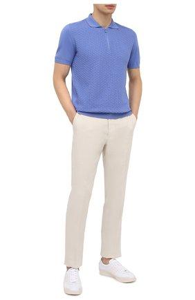 Мужские брюки изо льна и шелка RALPH LAUREN белого цвета, арт. 798835953 | Фото 2