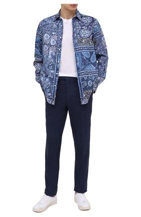 Мужская льняная рубашка RALPH LAUREN синего цвета, арт. 790827997 | Фото 2