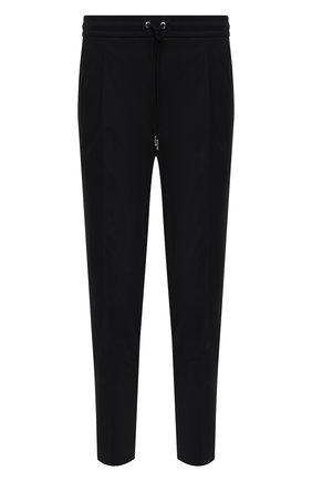 Мужские хлопковые брюки MONCLER черного цвета, арт. G1-091-2A710-00-549P5 | Фото 1 (Материал внешний: Хлопок; Случай: Повседневный; Стили: Кэжуэл; Длина (брюки, джинсы): Укороченные)