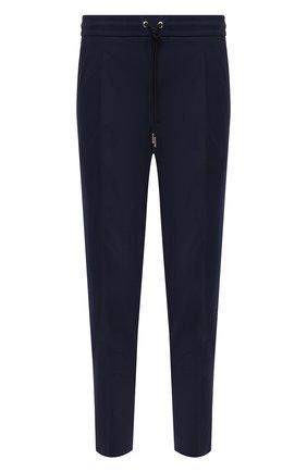 Мужские хлопковые брюки MONCLER темно-синего цвета, арт. G1-091-2A710-00-549P5 | Фото 1 (Материал внешний: Хлопок; Стили: Кэжуэл; Случай: Повседневный; Длина (брюки, джинсы): Укороченные)