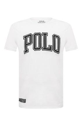 Мужская хлопковая футболка POLO RALPH LAUREN белого цвета, арт. 710840424 | Фото 1