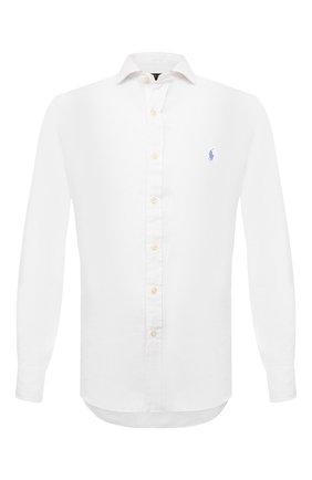 Мужская льняная рубашка POLO RALPH LAUREN белого цвета, арт. 710835509 | Фото 1