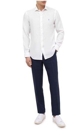 Мужская льняная рубашка POLO RALPH LAUREN белого цвета, арт. 710835509 | Фото 2