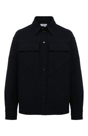 Мужская шерстяная рубашка BOTTEGA VENETA темно-синего цвета, арт. 647383/V0BJ0 | Фото 1